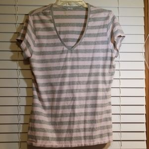 Gap stretch pink and gray top